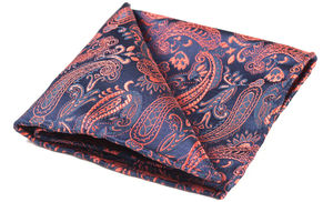 Harlan Woven Silk Pocket Square - hats, scarves & gloves