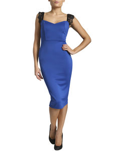 10% Off Was 32.99 Royal Blue Bodycon Dress - dresses