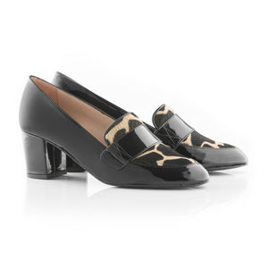 Heeled Loafer In Patent Leather - shoes