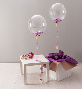 Flower Confetti Filled Balloon