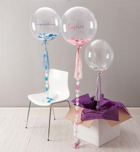 Bespoke Heart Tassel Confetti Filled Balloon - room decorations
