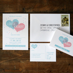 Two Become One Wedding Invitation - thank you cards