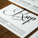 Modern Script Wedding Invitation Stationery