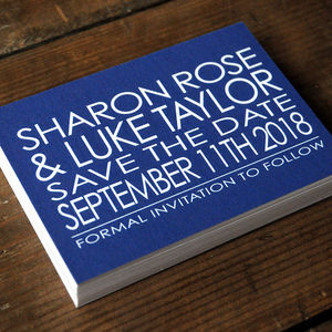 Modern Words Wedding Invitation Stationery - save the date cards