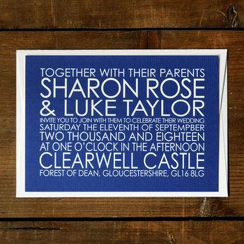 Modern Words Wedding Invitation Stationery