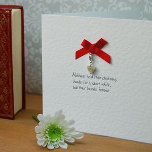 Sterling Silver Heart Charm Cards