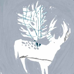 Deer And Forest Christmas Card
