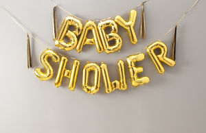 Baby Shower 16 Inch Balloon Letters - baby shower decorations