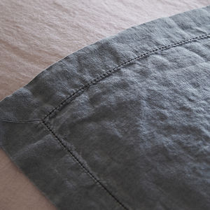 Linen Throw With Hemstitch Border - throws, blankets & fabric