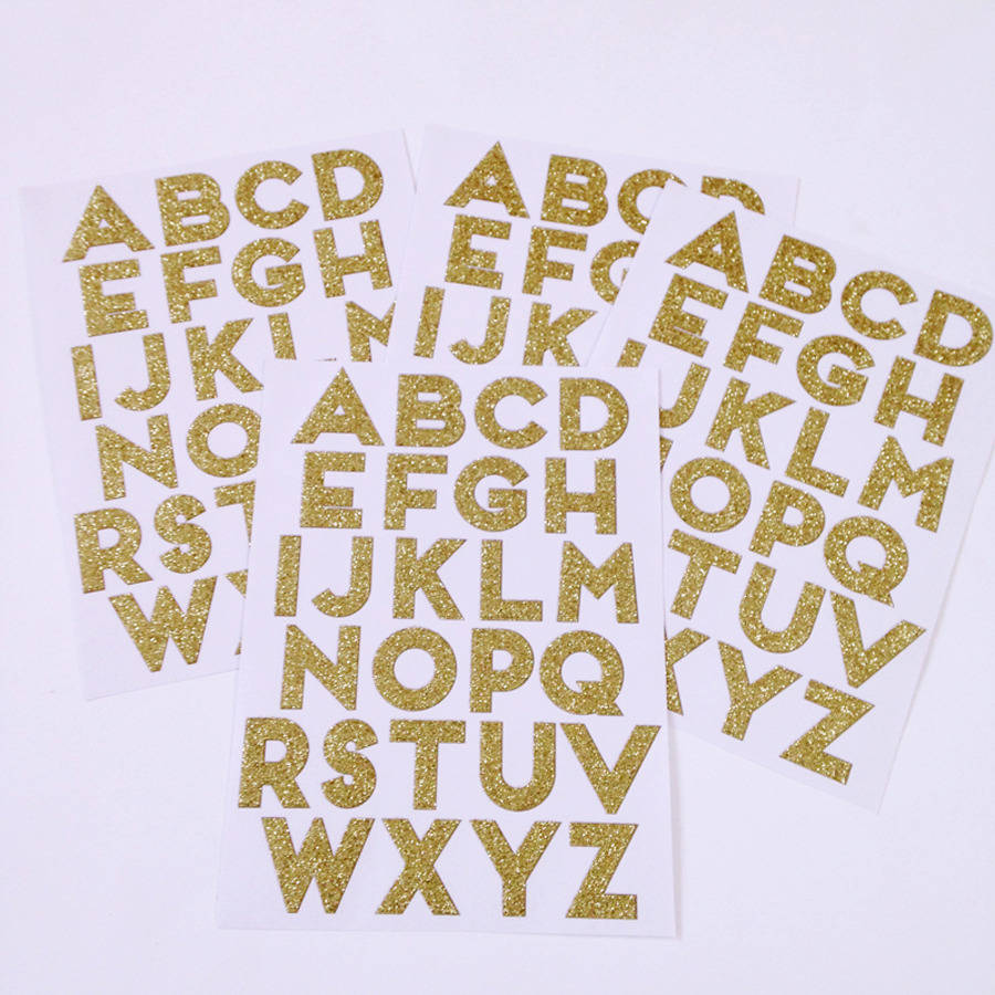 gold glitter alphabet stickers by little lulubel ...