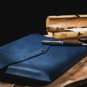 Luxury Leather A4 Document, Tablet And Laptop Sleeve - tech accessories for him