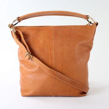 Tan Leather Handbag Hobo Tote