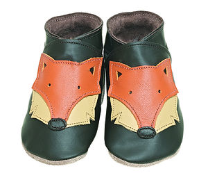 Soft Leather Baby Shoes Foxy Chocolate