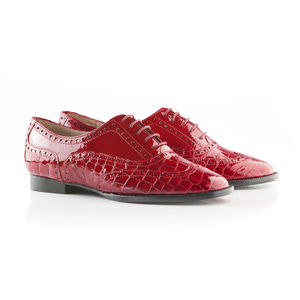 Flat Lace Up Brogue - shoes