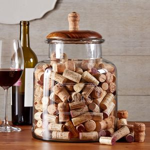 Large Decorative Cork Jar - storage & organisers