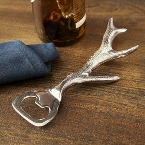 Silver Antler Bottle Opener