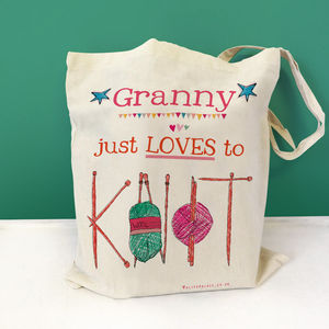 Personalised 'Knitting' Bag