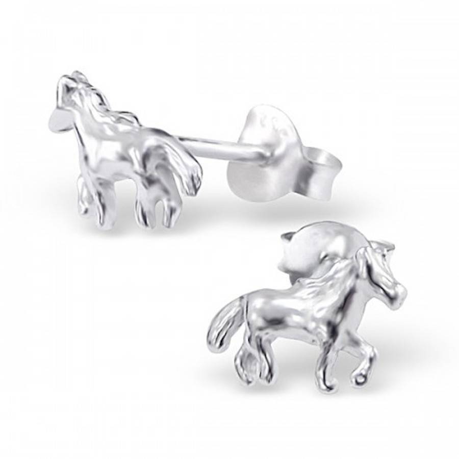 Blue Unicorn Earrings - Sterling Silver OYSEC5