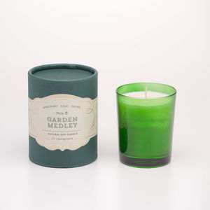 Garden Medley Soy Candle For Contemplation - greenery