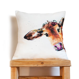 Inky Cow Cushion - children's room