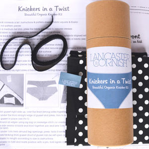 Knickers In A Twist Organic Sewing Kit Cotton Polka - sewing kits