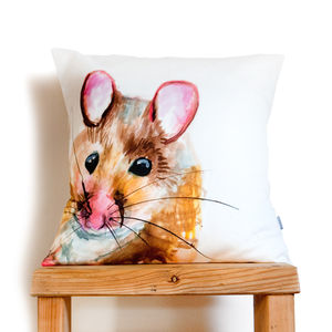 Inky Mouse Cushion - nursery cushions