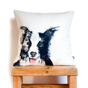 Inky Dog Cushion