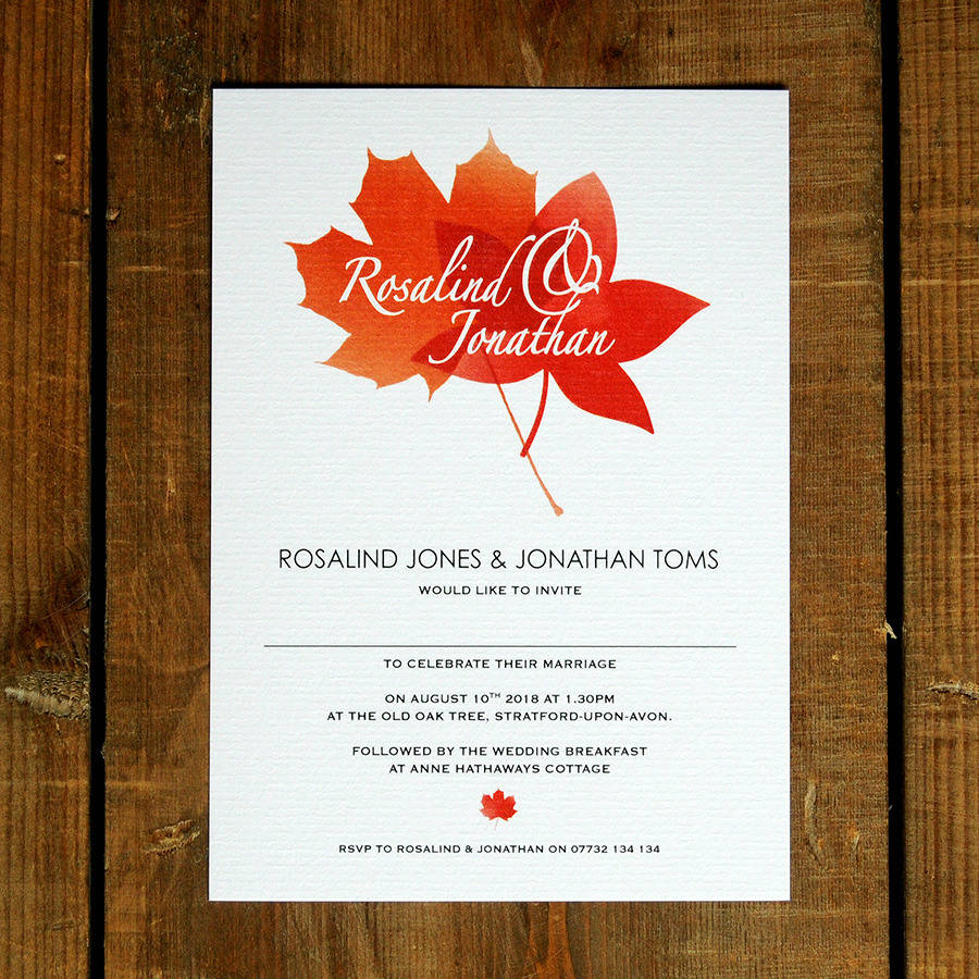 autumn wedding invitations - Roberto.mattni.co
