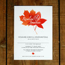 Autumn Leaves Wedding Invitation Stationery