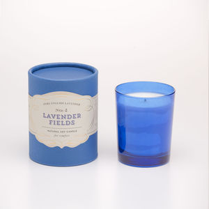 Lavender Fields Soy Candle For Comfort - candles and candle holders