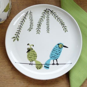 Birds On A Line Plate - dining room