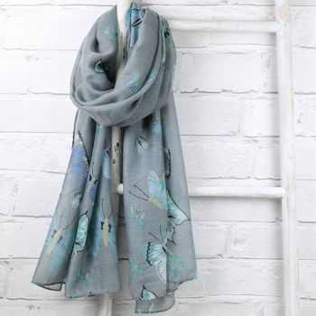 Pastel Butterfly Scarf