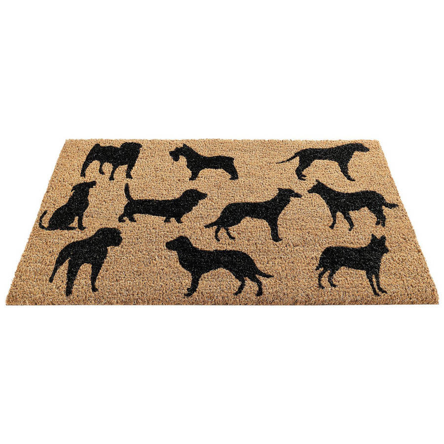 Black Dog Montage Coir Doormat By Garden Selections