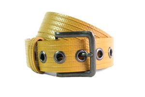 Reclaimed Fire Hose Big Yellow Belt - belts