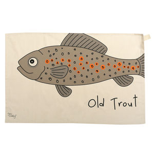 Old Trout Tea Towel - kitchen accessories