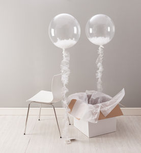 Serenity Feather Filled Balloon - outdoor decorations