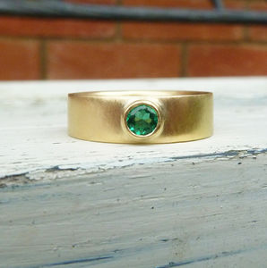 Gold Emerald Ring - engagement rings
