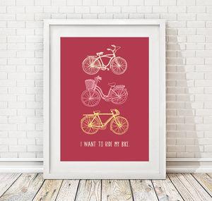 Personalised Bicycle Print