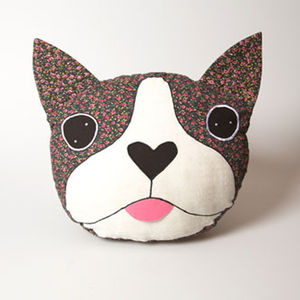Vintage Boston Terrier Dog Cushion - whatsnew