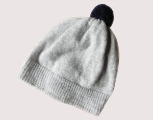 Plain Lambswool Bobble Hat - hats
