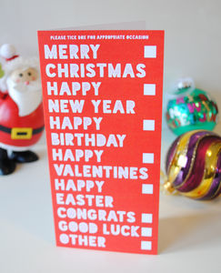 'All Occasions In One' Funny Christmas Card