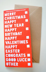 All Occasions In One Greeting Card - christmas cards