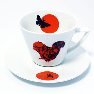 Squirrel Tea / Coffee Cup And Saucer