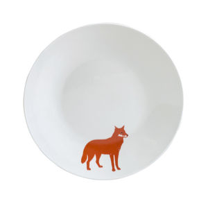 Orange Fox Tea Plate