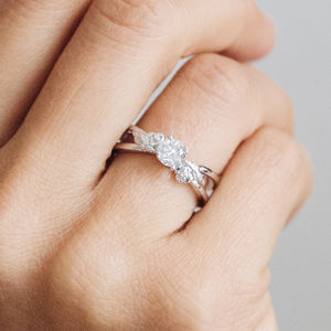 Foliage Fairtrade Ethical Diamond Engagement Ring - unique engagement rings