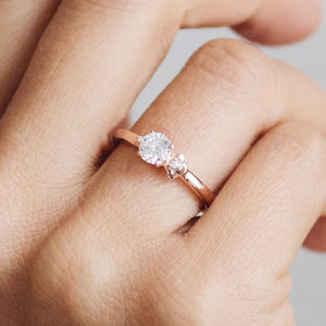 Cherry Blossom Fairtrade Ethical Engagement Ring