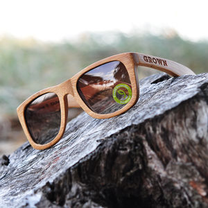 Kicker Stained Bamboo Sunglasses - sunglasses
