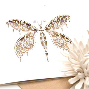 Butterfly Card Laser Cut - wedding, engagement & anniversary cards
