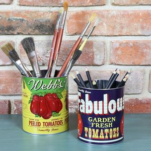 Set Of Two Tomato Storage Tins - tins