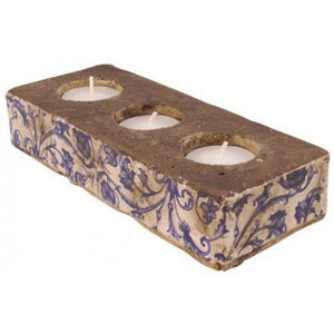 Aged Ceramic Tealight Candle Holder